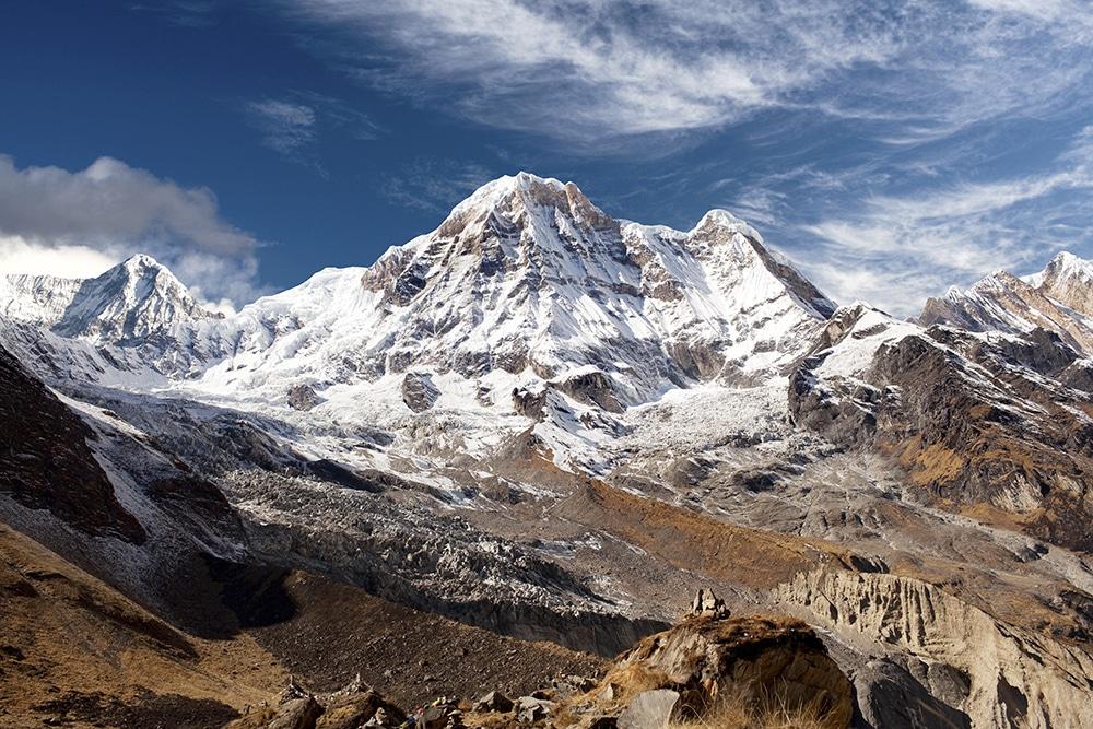Vistas del circuito de los Annapurnas