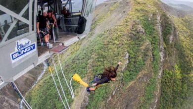 Photo of Saltando los 134 metros del Nevis Bungy, el más alto de Nueva Zelanda