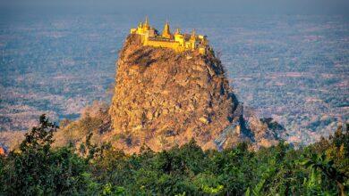 Photo of Adoración idílica: El monasterio del Monte Popa en un volcán
