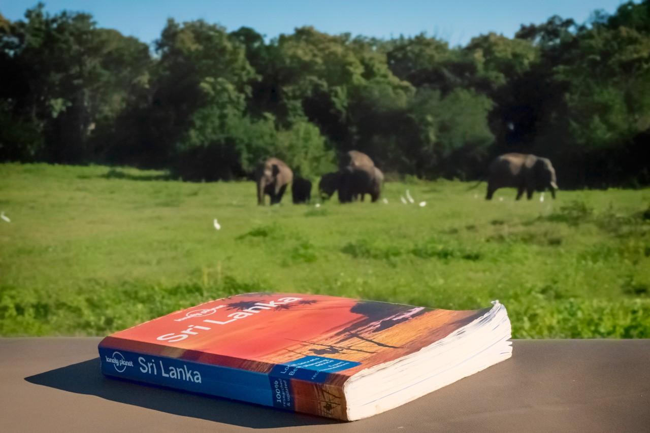 La guía Lonely Planet de Sri Lanka le servirá bien en la Fortaleza de Sigiriya Rock