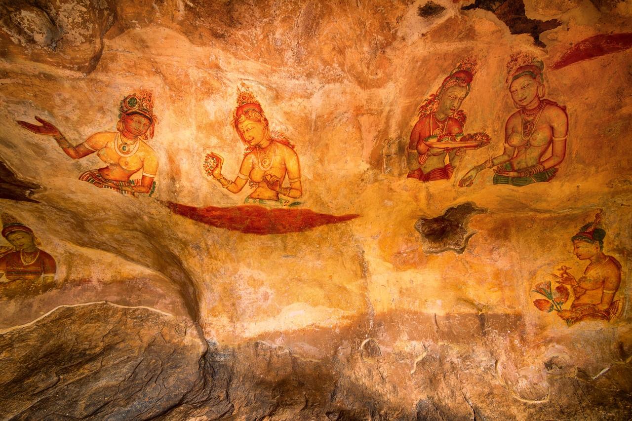 Galería en la Fortaleza de la Roca de Sigiriya