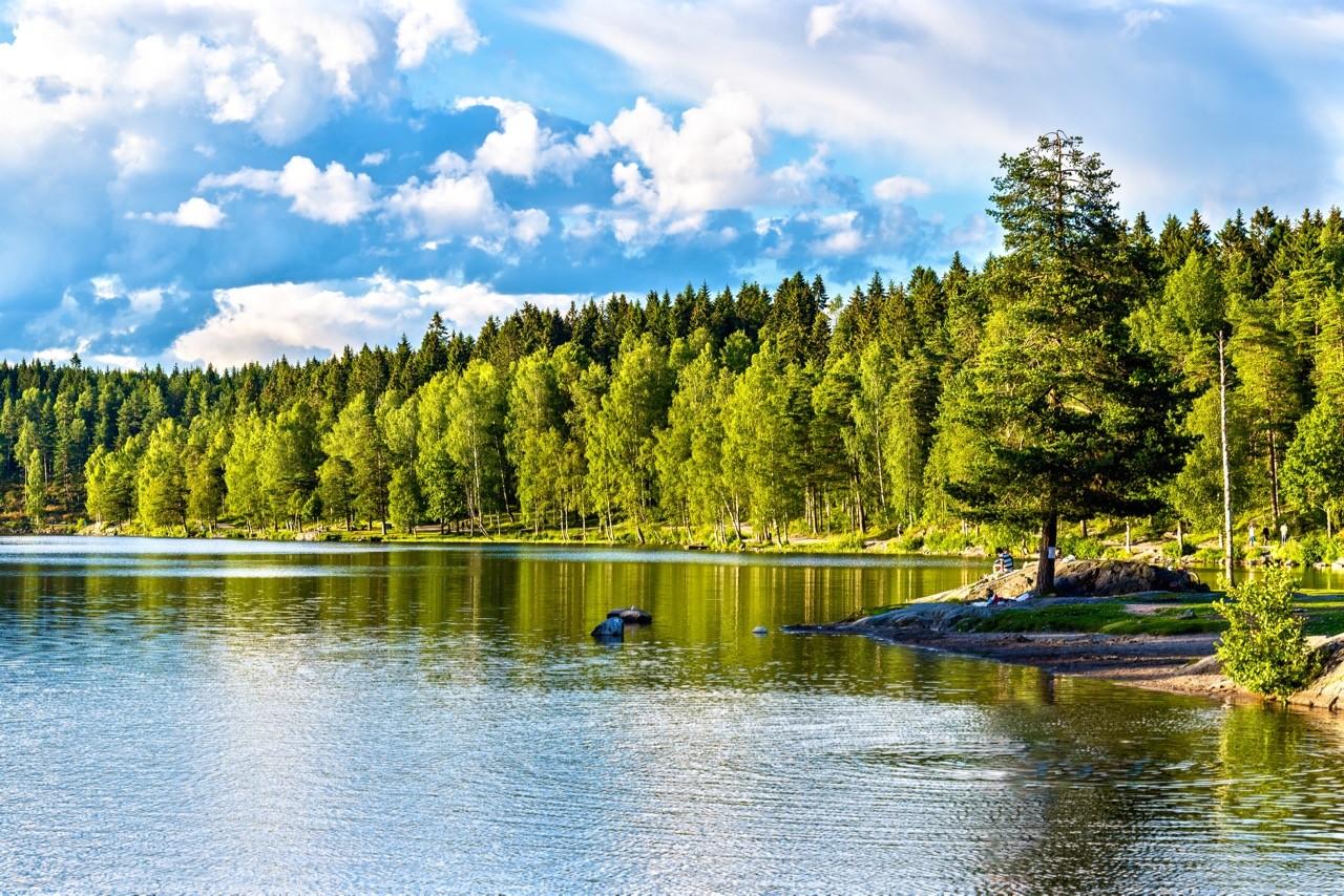 oslo-hiking-trails-Sognsvann lago al norte de Oslo