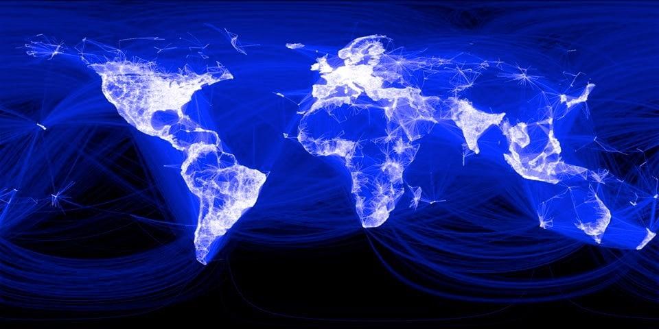Mapa de conexiones de Facebook