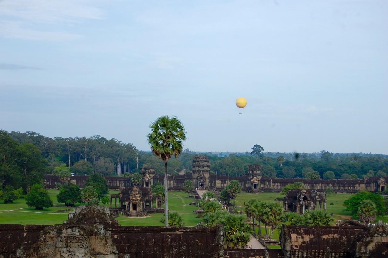 El mejor momento para visitar Angkor Wat: vista desde el último piso.