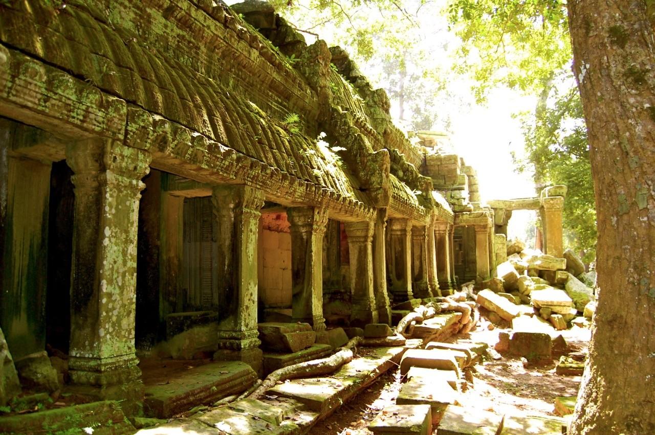 La mejor época para visitar Angkor Wat: pocos visitantes.