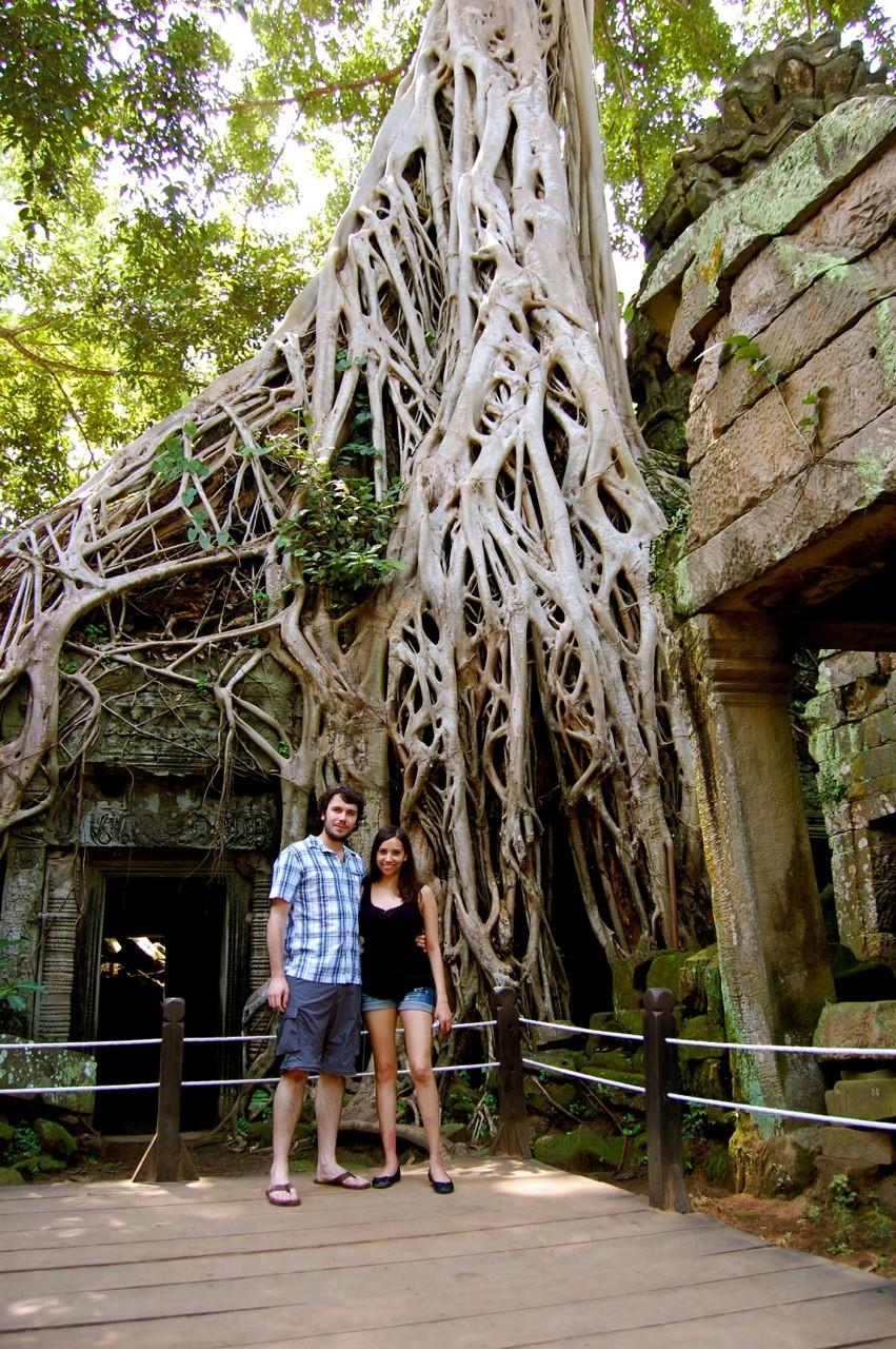 el mejor momento para visitar Angkor Wat: Kia y Peter