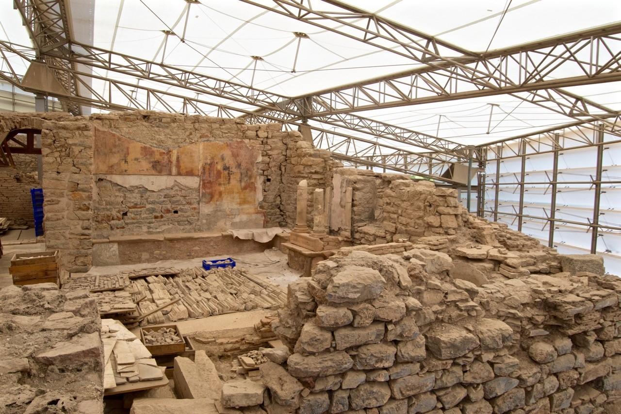 visitando-casas de terraza de Ephesus