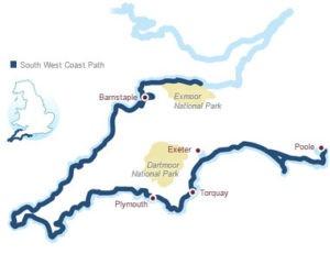 mapa de senderos de la costa suroeste