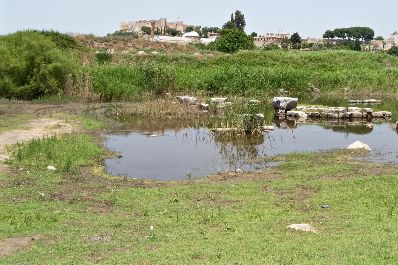 ¿Adecuado para una diosa? El famoso Templo de Artemisa está situado en la cima de un montón de pantanos...