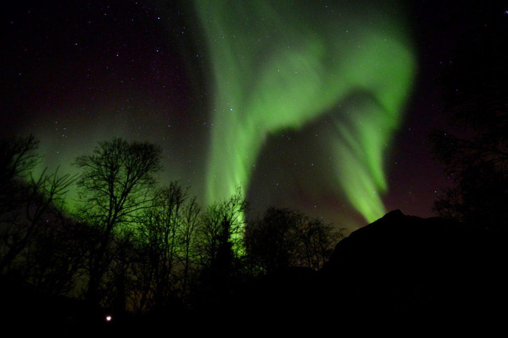 una foto tomada mientras perseguía la aurora boreal en tromso