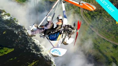 Photo of Volando sobre las Cataratas Victoria en un ultraligero