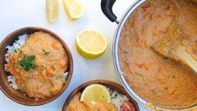Photo of Receta fácil de curry de lentejas rojas